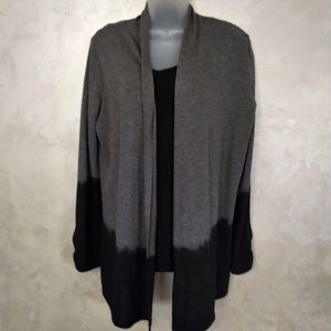 New Directions Dipped Cardigan EUC XL